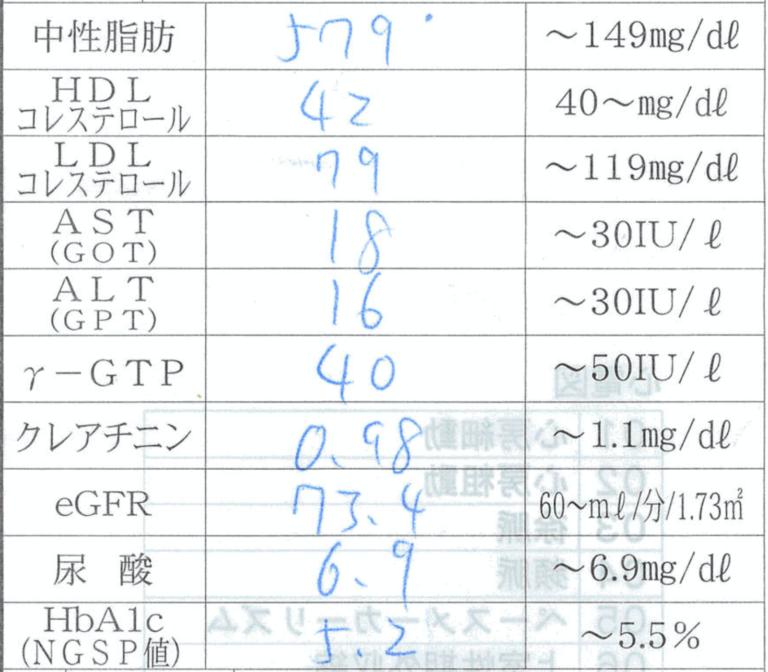 中性脂肪が 579mg/dl